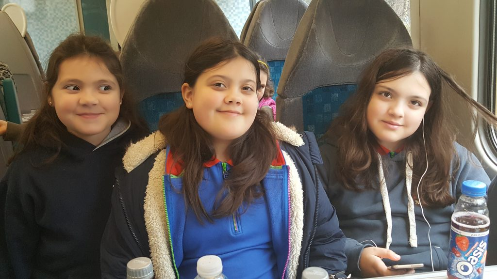 girls on the train to Aberdyfi