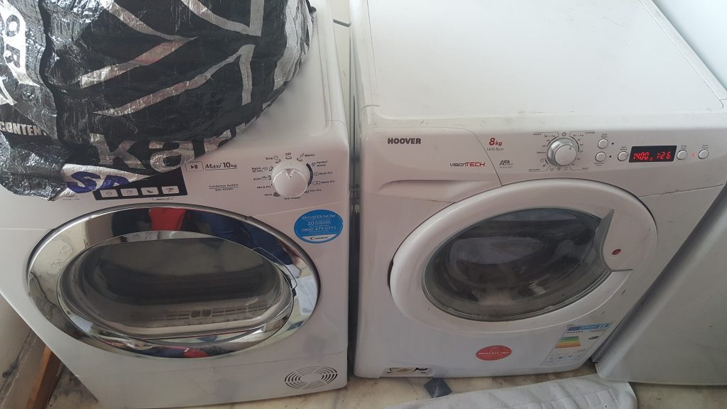 faulty washing machine and dryer