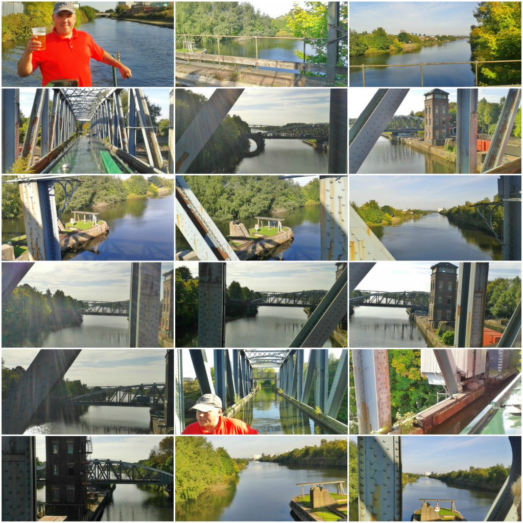 collage of images of Barton Swing Aquaduct