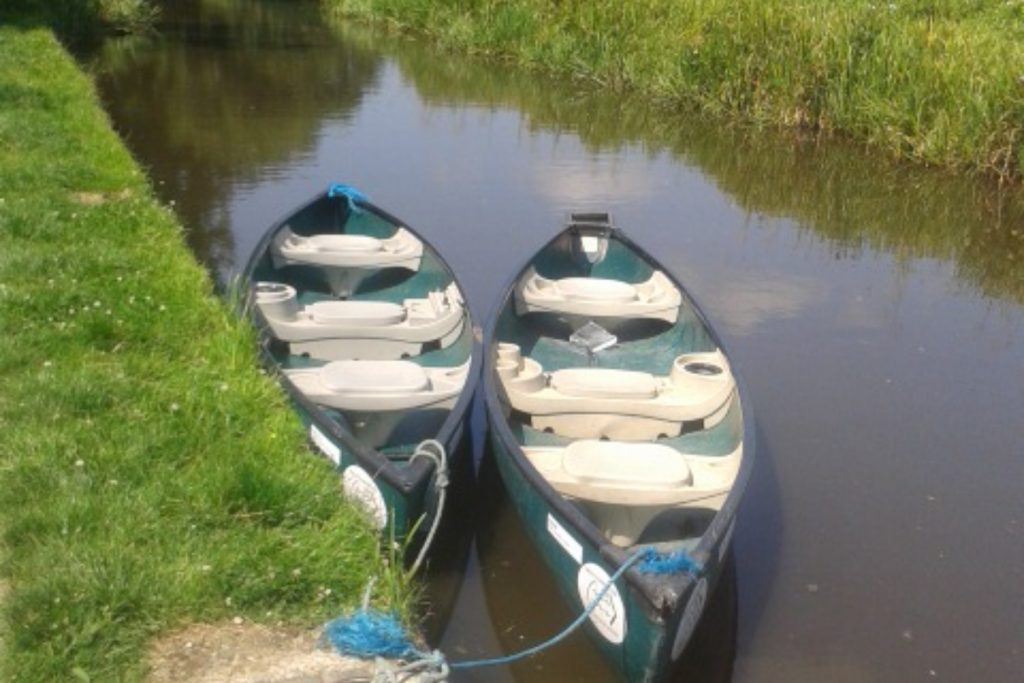 two kayaks on the montgomery canal