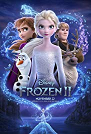 frozen 2 poster showing Anna, Elsa, Kristoff, Sven and Olaf