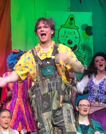 Ed the Williams vet as Wally the Wally in the Aberdovey Panto